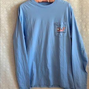 Vineyard vines baby blue ski mountain LS t-shirt